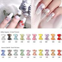 10pcs Aurora AB bowknot coloridos Decorações Nail Art 3D holográfica Resina Bow projeto do japonês DIY Glitter Manicure Acessórios