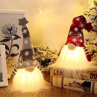 Weihnachten Gnome Lichter schwedischen Weihnachts Tomte Gnome Nordic Weihnachtsdekoration Plüsch-Puppe Ornamente Kinder Geschenke Faceless Rudolph HH9-3382