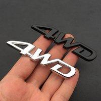 Para Toyota Camry Corolla Tundra Rav4 4Runner Metal Quatro Rodas de Quatro Roda 4WD Adesivos de Carro Caixa de Caixa Marca Adesivos Decorativos