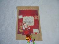 Yeni yılın kutlu, Noel Baba tebrik kartları bayrak 30 * 45cm veya 12 * 18 inç 280g / m2 polyester afiş, çift taraflı baskı