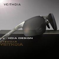 المغنيسيوم Veithdia الألومنيوم أزياء كلاسيكية رجل نظارات شمس Polarzed نظارات شمسية نظارات اكسسوارات Oculos للرجال ذكر 6591