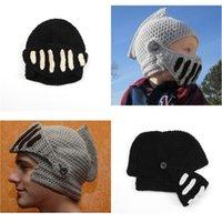 수동 직조 기사 모자 성인 어린이 마스크 헬멧 캡 탄성 두꺼운 헤드 기어 겨울 야외 따뜻한 개인 편안한 11 6xz N2