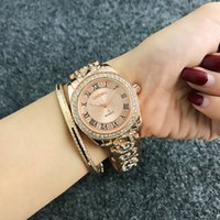 Contena роскошный браслет часы женщины часы горный хрусталь мода розовые золотые женские часы часов reloj mujer relogio feminino y1220