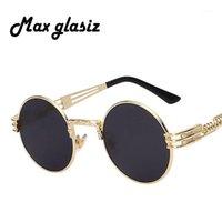 الرجال العلامة التجارية خمر جولة نظارات الشمس 2020 جديد الفضة الذهب المعادن مرآة صغيرة جولة نظارات المرأة رخيصة عالية الجودة UV4001