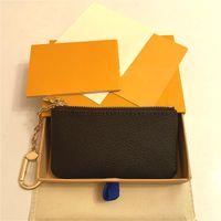 5 Color Color Designers Pochette Haute Qualité En Cuir Femmes Hommes Titulaire de la carte Porte-clés Porte-monnaie Porte-monnaie Luxe Petit portefeuille Mini Sacs à main Numéro de série