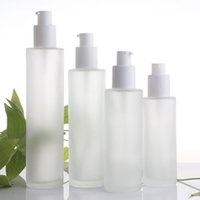 20ml 30ml 40ml 60 ml 80ml 100 ml 120 ml Buzlu Cam Kozmetik Losyonu Pompa Şişesi Doldurulabilir Sıvı Parfüm Sprey Şişeleri