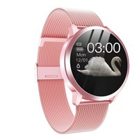 Upgrade-Q8 Plus-Rose Gold Smart Watch Fashion Electronics Männer Frauen wasserdichte Sport-Tracker Fitness Armband Smartwatch