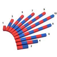 الأحمر والأزرق أرقام بار الأسرة روضة رياض الأطفال مونتيسوري التدريس الإيدز الجمع والطرح تدريب الطفل لعبة الرياضيات التعليمية 200928