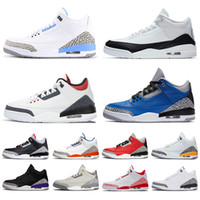 2020 Nueva llegada Jumpman UNC Varsity Royal para hombre Zapatos para mujer Denim Fire Red Fragment Black Cement Trainers Knicks Rivals Sneakers