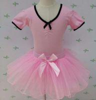 Giyim Kızlar 'Drs Kısa SVE Suit Yay Ballet Anaokulu Yaz Çocuk Uygulama Dans Etek