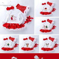 Four Pieces Suit Baby Clothing Printing Long Sleeves Santa C...