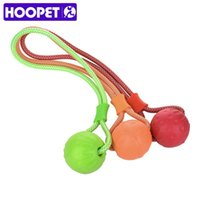 Dog Toys жует HOOPET PET Весчудистовочная жеребьевка Teg Tug Interactive Paliing Чистка зубов для маленьких средних больших собак 3 цвета