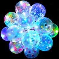 Valentinstag Leuchtende Ballonliebhaber Transparente LED Bobo Ball Luftkugeln für Weihnachten Neujahr Brithday Hochzeitsfest Dekor Geschenk E121803