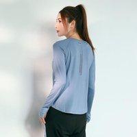 Abiti da yoga Gxqil Riflettente Riflettente Top per fitness Camicie da donna a manica lunga in esecuzione T-shirt sportiva T-shirt da palestra Abbigliamento femminile Allenamento femminile Sport