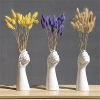 Style nordique Un vase à la main Fleurs Modern Accueil Decor de bureau de Creative Floral Composition Salon Vase en céramique