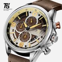 T5 가죽 남성 시계, 석영 시계, 방수, 스포츠 시계