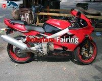 Eftermarknad Body Fairing Set 00 01 02 ZX-6R för Kawasaki Ninja ZX6R 2000 2001 2002 Röda motorcykel Fairings Kits (formsprutning)