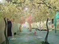 2021 DIY высоты 2.6M белых Искусственного Cherry Blossom Tree дорога ведет Моделирование Вишневого Цветок с Iron Arch рамкой для партии Реквизита Свадебной