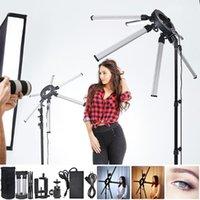 Fosoto TL-1200S Illuminazione fotografica 3200-5600K 120W Multimedia EXtreme LED Star Light Lampada video con treppiede per fotocamera Makeup1