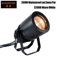 Freeshipping 200W Outdoor COB LED Zoom Par Light Warm Wit 3200K Koud Wit 6500K Aluminium IP65 Cover Waterdichte Koelventilator