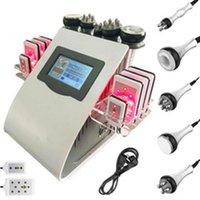 6 en 1 Vacío Láser Radio Frecuencia RF 40K Cavitación Lipo Cuerpo Adelgazamiento Ultrasónico Liposucción Cavitación Máquina de cavitación Levantamiento de la piel