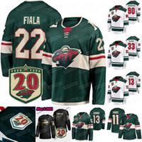 33 Cam Talbot Minnesota Wild 20th Anniversary 2021 Jersey Zach Parise Kevin Fiala Neck Bonino Marcus Johansson Mats Zuccarello