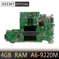 Placa base portátil X542BP para ASUS X542B X542BP A580B K580B FL8000B PLATAFORMA PLATAFORTE 100% PRUEBA 4GB A6-9220M CPU 2.5GHZ1