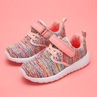 Новая детская ходьба обувь детская спортивная обувь 2-8 лет повседневная липучка мода для девочек