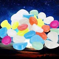 Mix Renk Aydınlık Taşlar Karanlıkta Glow Bahçe Dekor Yol Açık Balık Tankı Dekorasyon Çakıl Taşları Akvaryum H1014 Y200917