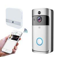 Smart Doorbell Bell Ring Fernüberwachung Kamera Telefonanruf Intercom System Wohnung Auge Tür Wifi Video Sea Shipping RRC5394