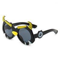 النظارات الشمسية الكرتون مافريكس سيليكون لطيف الأطفال الاستقطاب uv نظارات حماية للأولاد الفتيات الأزياء نظارات 1