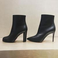 Luxurys Projetado bota preta Cate Botas para mulheres, senhoras parte inferior vermelha Sole Tornozelo Botas Chains paltform Salto Adox Eloise Booty Inverno Marcas