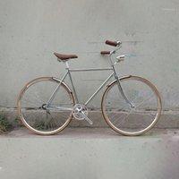 자전거 레트로 자전거 슬리버 700C 고정 기어 빈티지 트랙 단일 속도 52cm 픽스 블랙 컬러 프레임 1