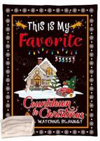 letra de la historieta de Navidad manta mantas impresas niños Sofá suave felpa Colchas edredón de navidad Thin mantas 130 * 150cm CYF4516-1