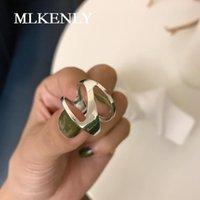 Кластерные кольца Mlunly 925 стерлингового серебра стерлингового серебра Открыть старинный старый тайский дизайн шириной для женщин подвески изысканные украшения