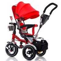 Conversível Handle Baby Triciclo Stroller Riding Bicicleta Carro Sistema de Viagem Do Dobrável Sente-se Sente-se Child Child Child Trike Baby Carriage1