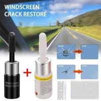 Araba Temizleme Araçları 2 adet DIY Pencere Cam Çizik Çatlak Düzeltme Aracı Cam Tamir Takımı Ön Cam Restorasyon Seti Ön veya Arka Windshi için Set