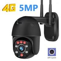 Imporx sem fio 4G WiFi Security Camera 5MP 3MP Auto Tracking PTZ IP Camera IP 1944P HD 5x Vigilância CCTV ao ar livre 5x