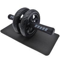 ABS NEW CONECT FITNESTION CHEELS NO SHOOM БРЮШЕННЫЙ КОЛЛЕВОЙ РОЛО AB с ковриком для тренажера мышц