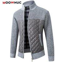 Мужские свитера мода повседневная кардиган 2021 длинные рукава пальто толстые лоскутные створки тонкий классический держать теплый мужской весна осень осень