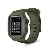 방수 실리콘 스포츠 밴드 스트랩과 케이스 커버 iwatch 애플 시계 시리즈 밴드 5 4 3 2 42mm의 44mm (42 개) (44 개) MM 액세서리