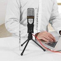 Alto-falantes de livros O microfone 3.5mm Plug Estéreo Condensador Mic Desktop Tripod Para PC YouTube Video Chatting Gaming Podcast Graving1
