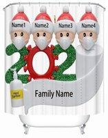 7 개 스타일 생존자 가족 욕실 세트 방수 미끄럼 러그 욕실 러그 화장실 매트 패션 메리 크리스마스 샤워 커튼 크리스마스 선물 KKF2161