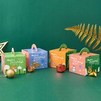 Merry rastgele Noel elma şeker kutusu Noel arifesi ambalaj kutuları peri tasarım papercard yılbaşı hediyeleri kutusu meyve yaratıcı toptan