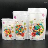 Nuovo 100pcs Standing Sacchetto di stoccaggio Snack Snack Candy Cookies Pacchetto Reibile Sacchetto di autoeseguardia Forniture da cottura Decorazioni di nozze1