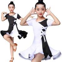 BASSA BIANCO BIANCO BLACK BLACK DANCIA Abiti da competizione Abiti per ragazze Bambini Costume