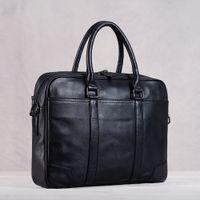 HBP Genuine Leather Men Handbag Man Bag Briefcase Business Shoulder Large Capacity Crossbody 15.6 Inch Laotop Office Bags