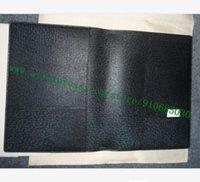 Высший сорт Black Noir Plaid Холст с покрытием Real Кожи Теленка DESK ПОВЕСТКА КРЫШКА R20974 Diary Planner ноутбук держатель карты 25 * 19 см