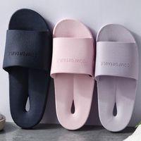 Hausschuhe Design Frauen PVC Badezimmer Schnelles Wasser Undicht Komfort Lässig Folien Weibliche weiche elastische Fußmassage Sandalen