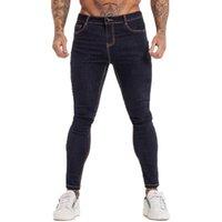 Gingtto мужские джинсы NY джинсы синяя высокая талия классический хип-хоп растягивающие мужчины брюки хлопчатобумажные удобные мягкие полнометражные ZM124